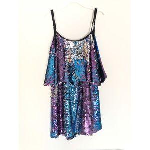 Multi-Color Sequin Mini Dress